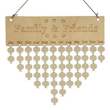 Sju Calendar.Diy Calendar Xshuai Wooden Family And Friends Birthday Calendar Anniversary Board Diy Sign Special Dates Planner Board Hanging Decor C