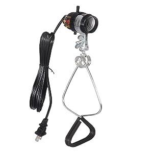 Simple Deluxe 18/2-Gauge Brooder and Heat Clamp Lamp UL Listed with Bakelite Socket 150 Watt 6 Feet Cord