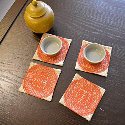 QWERWHH Cup Mat2 Mat Wärmedämmung Mat Geschirr Matte 10 Cm, (4 Stück)