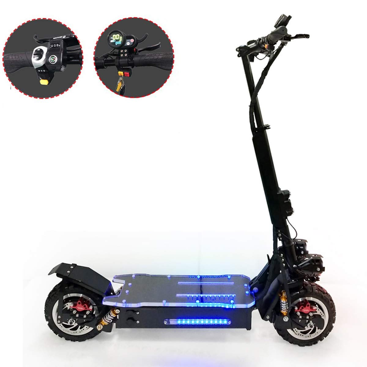Amazon.com: ZMJJ Electric Scooter Adult Offroad 85KM/H ...
