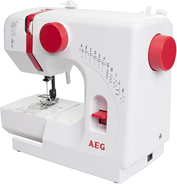 AEG Freiarmmáquina de coser NM 100 kompakt: Amazon.es: Hogar