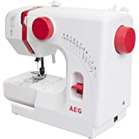 AEG NM100 Machine à coudre bras libre blanc, rose 10 W