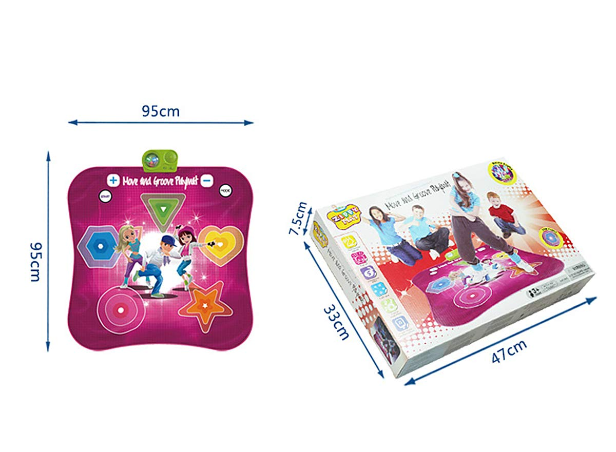 Kids Electronic Music Play Mat, Color Dance Pad Soft Baby Early Education Portable Music Dance Keyboard Carpet by Eustoma (Image #3)
