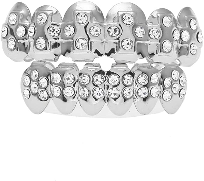 Easy Attached Multi Color Stars Design Adjustable Braces 008