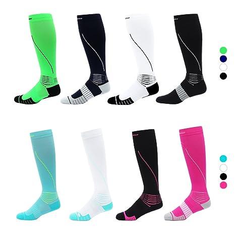 cbe548e881 FEELWE Compression socks 20-30 mmHG for Women and Men, Athletic Sport Socks  For