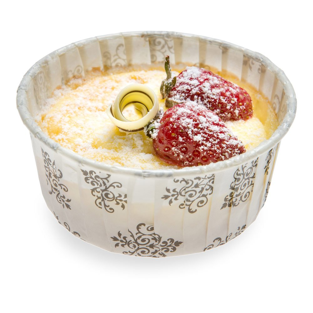 Panificio Premium 5-oz Baking Cups: Large-Pleated Ridge Cups Perfect for Muffins, Cupcakes or Mini Snacks - Vintage Floral Design - Disposable and Recyclable - 200-CT - Restaurantware