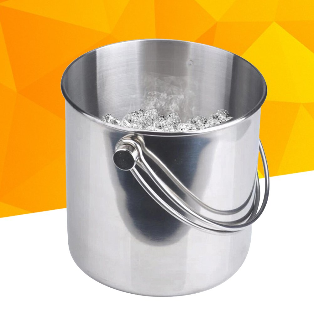 BESTONZON Premium Stainless Steel Ice Bucket with Strainer and Tong Beer Wine Champagne Cooler (2L) by BESTONZON (Image #3)