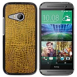 TECHCASE**Cubierta de la caja de protección la piel dura para el ** HTC ONE MINI 2 / M8 MINI ** Texture Material Brown Faux Art Random Modern