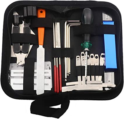Kalaok Guitar Repairing Tool Set Maintenance Cleaning Tool Kit String Organizer Action Ruler Gauge Measuring Tool