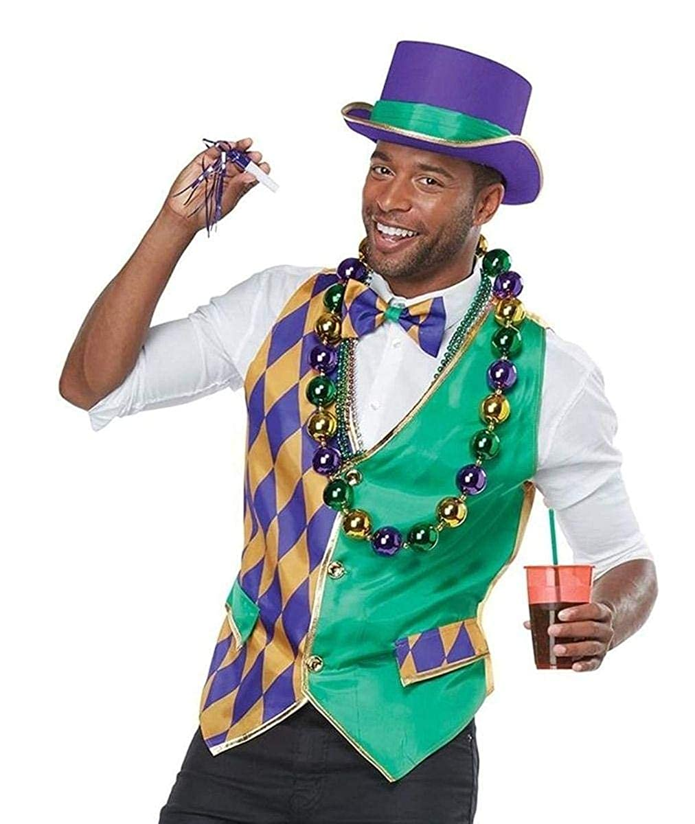 Mardi Gras Vest Adult Costume Kit California Costumes