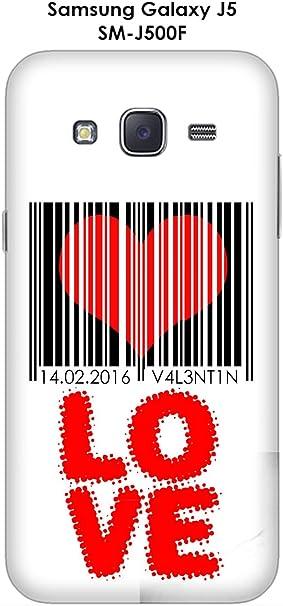 Onozo Carcasa Samsung Galaxy J5 – SM-J500 F código de Barras corazón: Amazon.es: Electrónica