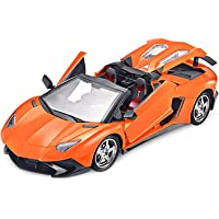 Zitto Rechargeable Remote Control Sports Car with Opening Doors, Orange