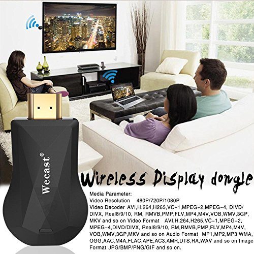 Smileyyi Wifi Display Dongle, Wireless HDMI Screen Mirroring Device, 1080P Wifi Display Airplay Dongle Digital AV to HDMI Connector for phone/pad, Support DLNA/Airplay Mirror/Ezcast/Miracast by Smileyyi (Image #7)