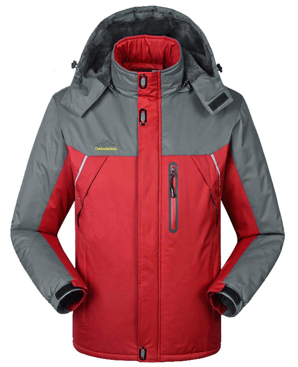 Lottaway Warming-up Detachable Fleece Breathing Climbing Outdoor Ski Parka Coat Faddist Spark Malls-CA