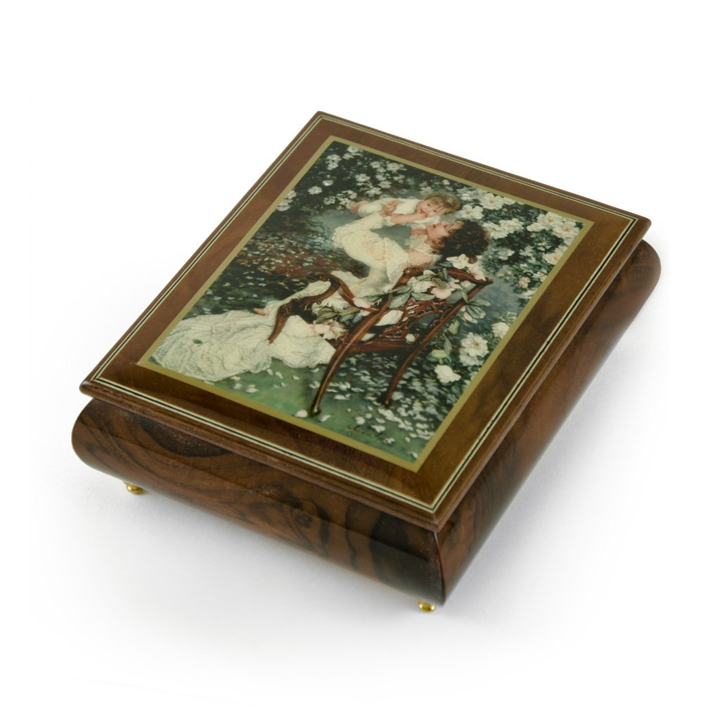 Handcrafted Ercolano Music Box Featuring ''Mothers Love'' by Sandra Kuck - Heartbreak Hotel (Elvis Presley)