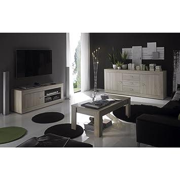 Set Wohnzimmer Decor Eiche Hell Tika E2 Amazon De Kuche Haushalt