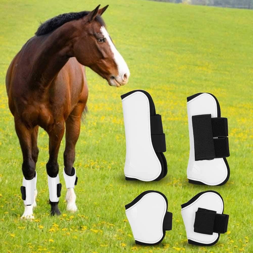 【𝐎𝐟𝐞𝐫𝐭𝐚𝐬 𝐝𝐞 𝐁𝐥𝐚𝐜𝐤 𝐅𝐫𝐢𝐝𝐚𝒚】 Abrigo de Bota de Caballo, Equipo de equitación Blanco Protector de Abrigo de Bota Protector de Pierna de Caballo, Mascotas para Caballo