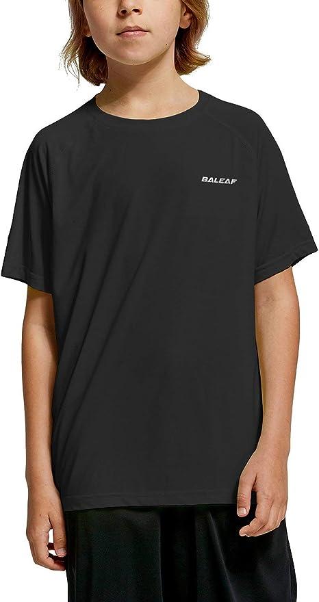 Black Raglan T-Shirts Short Sleeve Blush Sports Sweat Tee for Kids Boys Girls