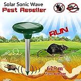 Teekini GreatHouse Garden Solar Power Sonic Wave Mouse Snake Repeller Outdoor Animal Expeller