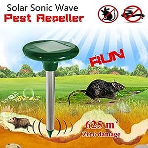 GREATHOUSE jardín energía solar Sonic Wave ratón repelente de serpiente al aire libre Animal expeller