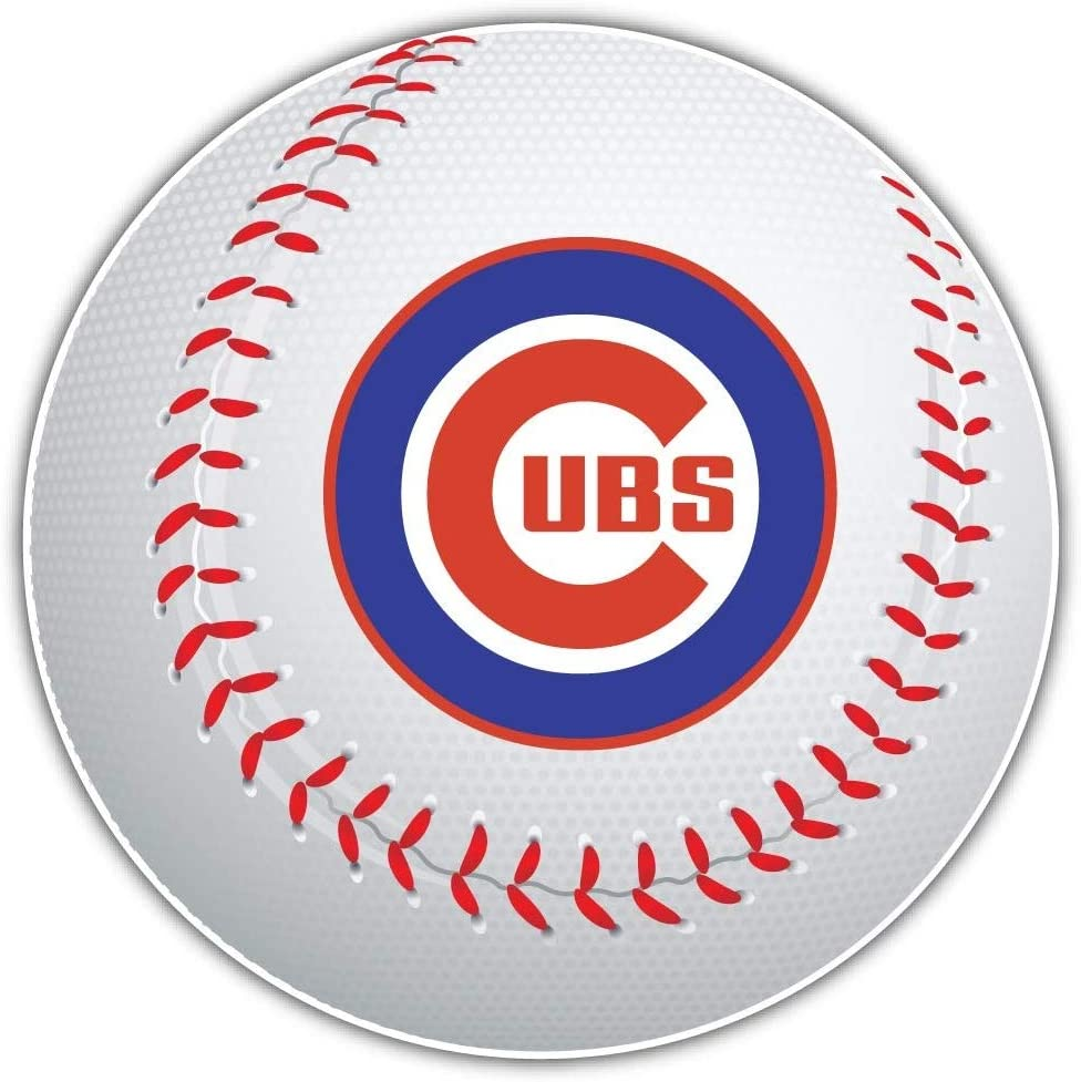 Chicago Cubs MLB Logo Ball - 5 Inch Sticker Graphic - Auto Wall Laptop Cell phone Bumper Window Decal Sticker