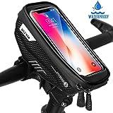 """Faneam Borse Bici Telaio Impermeabile Borsa Manubrio Bicicletta con Touch Screen, Porta Telefono MTB Borsa Porta Cellulare Bici per iPhone XS MAX/XR/X/8Plus/Samsung S9/S8 Fino a 6,5"""" Smartphone"""