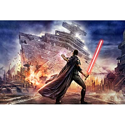 Jigsaw Puzzle Science Fiction Movie Star Wars Wooden Puzzle 300/500/1000 Pieces Adult Decompression Children's Educational Toys Creative Gifts (Color : D, Size : 1000tablets): Toys & Games