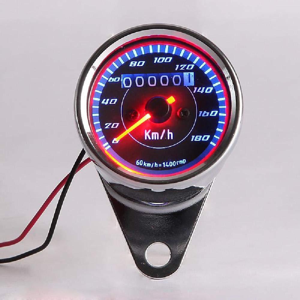 INNOGLOW LED Motorcycle Odometer Speedometer Gauge Universal Backlit Tachometer with 10mm mounting Hole for Yamaha Suzuki Honda Kawasaki