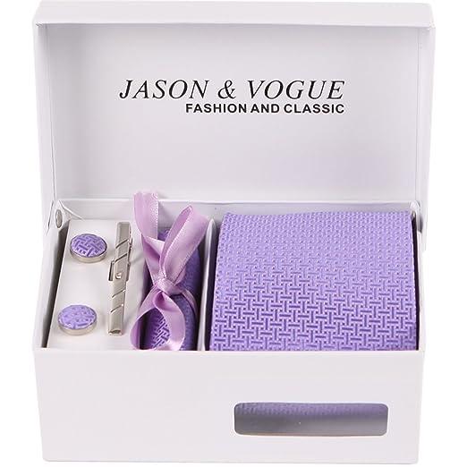 HXCMAN 9cm lavanda violeta liso corbata Conjuntos hombre corbata ...