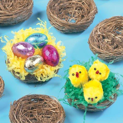 Baker Ross Mini nidi d'uccello per morbidi pulcini e decorazioni pasquali (confezione da 15)