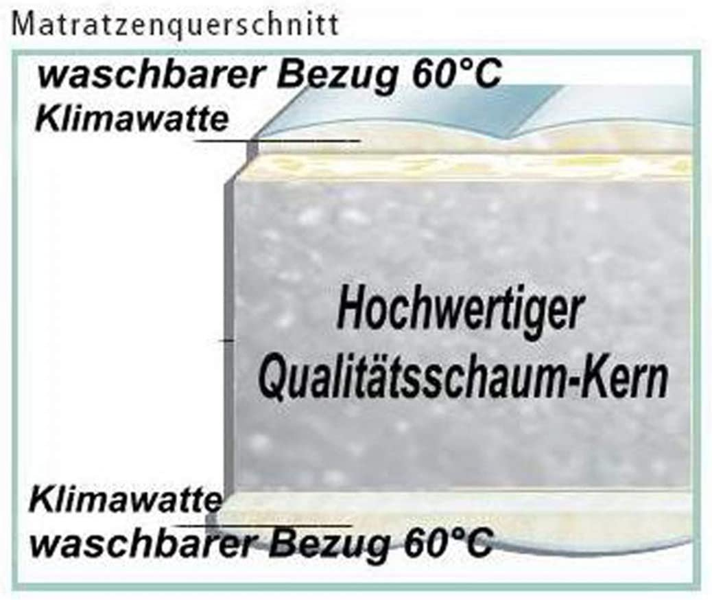 Breckle - Colchón con Funda térmica Lavable, 70 x 170