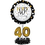 Balloon Centerpiece Kit,Happy 40th Birthday