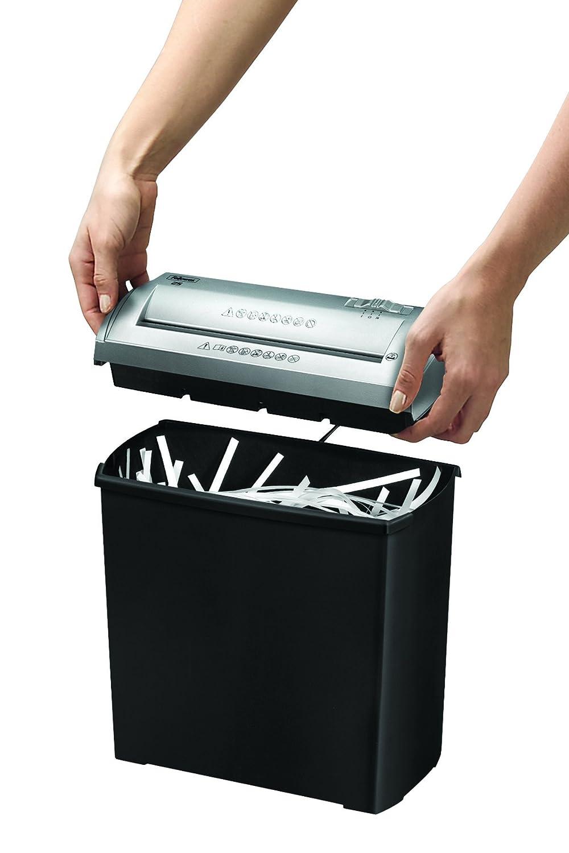Fellowes Trito S Destructora trituradora de papel corte tiras hojas color negro