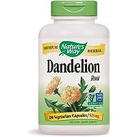 Nature's Way Dandelion Root; 525 mg Dandelion Root per serving; Non-GMO Project Verified; Gluten Free;Vegetarian;180 Vegetarian Capsules