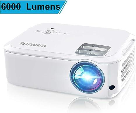 Amazon.com: WiMiUS 6000 Lumens Proyector Native 1080P Blanco ...