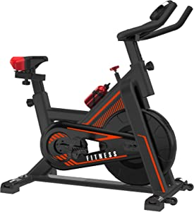 VIEWALL Indoor Cycling Bike, Exercise Bike Stationary for Home Gym Cardio Workouts with LCD Monitor, Belt Drive, iPad Holder (300 Lbs Weight Capacity)