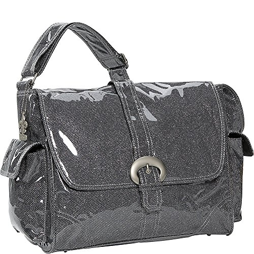 Kalencom Laminated Buckle Bag, Black Crystals by Kalencom
