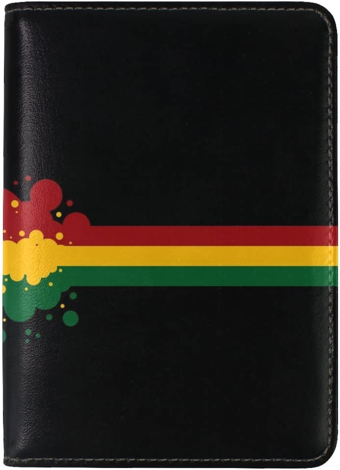 Stripes Flag Hungary Blob Leather Passport Holder Cover Case Travel One Pocket