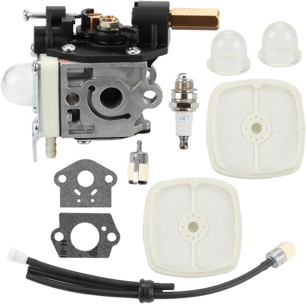SRM210 Carburetor for ECHO Trimmer Parts PE200 Carb Fuel Line Kit Primer Bulb
