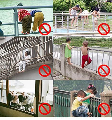 f/ür Kind//Baby // Kleinkind f/ür Balkon und Treppengel/änder 3M langlebig ISITO Sicherheitsnetz f/ür Kinder verstellbar wasserdicht wetterfest
