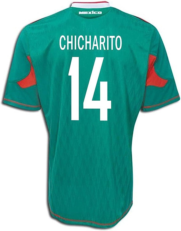 adidas CHICHARITO #14 Mexico Home Soccer Jersey (YXS) Green