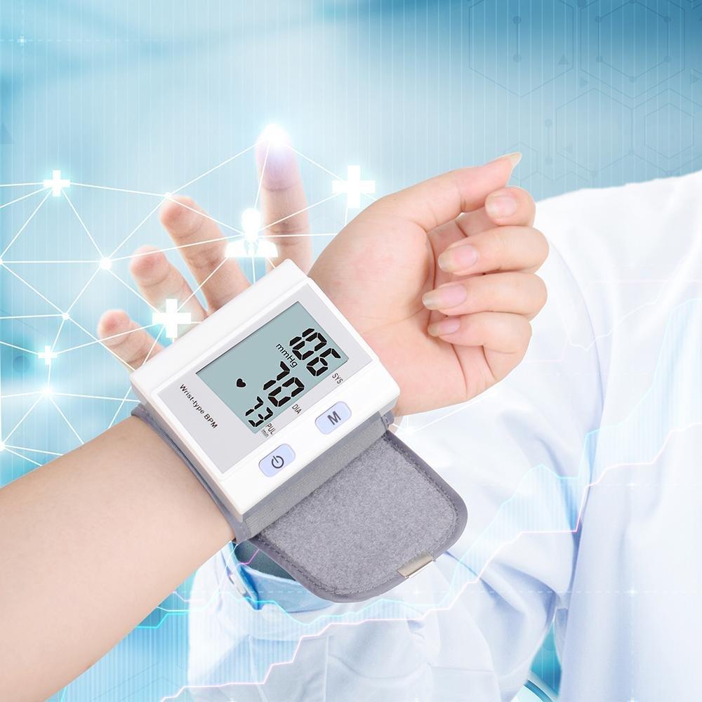 Digital muñeca de esfigmomanómetro EW-1510 de presión arterial y pulso AM pulsera alta precisión con USB recargables Uso Doméstico para grabaciones de 120: ...