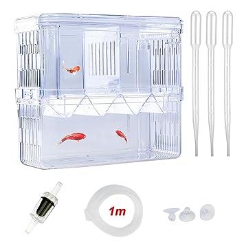 SENZEAL Caja de cría de Peces Plástico Flotante Camarones de Pescado y Pescado Hatchery Caja de