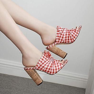 Amazon.com | Claystyle Moda Estilo Sudadera de Tela de subred de Estilo Rural de Verano de con Tacones Altos | Shoes