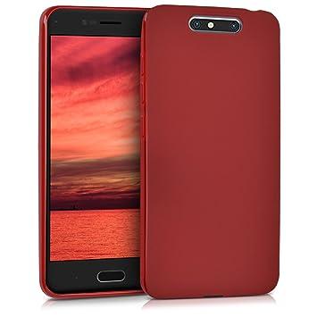 kwmobile Funda para ZTE Blade V8 - Carcasa para móvil en [TPU Silicona] - Protector [Trasero] en [Rojo Mate]
