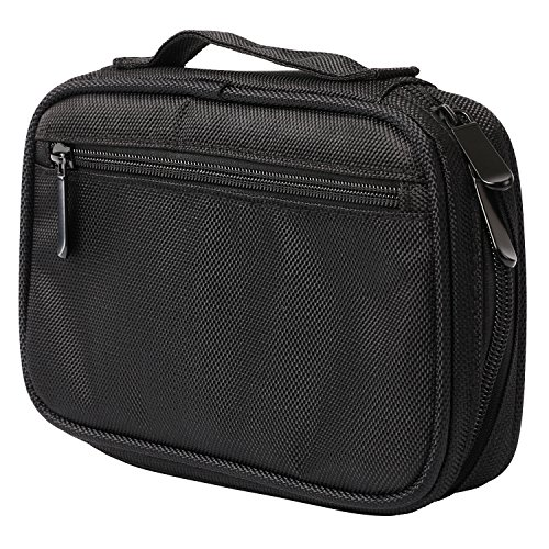Professional Makeup Case - Makeup Bag Train Case - HSK Mirage - Brush Organizer Bag - Makeup Brush Holder - Holds Upto 12 Brushes - Portable - Black