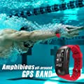 Fitness Trackers Watch GPS Heart Rate Sleep Monitor Pedometer IP68 Waterproof Smart Band iPhone & Android