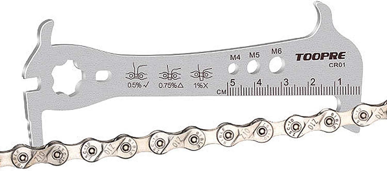 COOLWHEEL Bicycle Chain Checker - Bike Wear Indicator Gauge Measuring Ruler Tool Bike Parts Repair Kit for Mountain and Road Bikes, Folding Bicycle