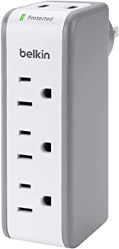 Belkin 3-Outlet SurgePlus Mini Travel Swivel Charger Surge Protector