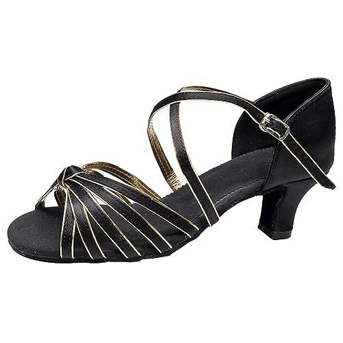 Ballroom Ballo Salsa Waltz Latin Dance Shoes Da Scarpe Prom KTu3F1clJ